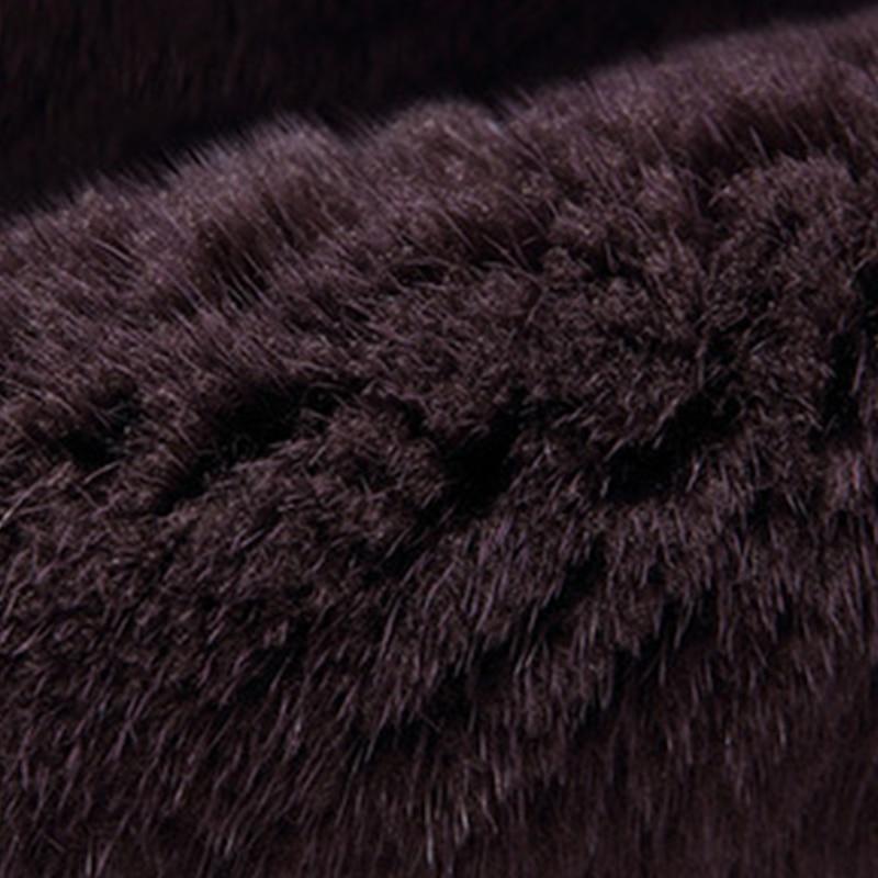 LVCHI Draped Lengan Rok Mink Fur Coats 2019 Berlian Mode V Neck Fur - Pakaian Wanita - Foto 6