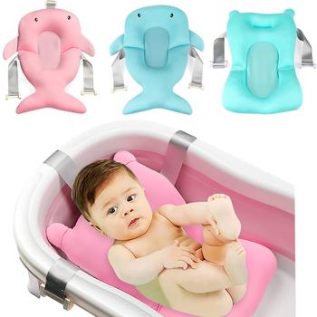 Przenośne noworodka krzesełko do kąpieli składany wanna dla dzieci Pad wanna prysznic Pad nie-poduszka na zagłówek Mat darmowa wysyłka tanie i dobre opinie Babies Wanny Tkaniny Cartoon baby bath tub cushions 0-3 M 4-6 M 7-9 M 10-12 M 13-18 M TYRY HU 320g Pink Blue Baby bath seat