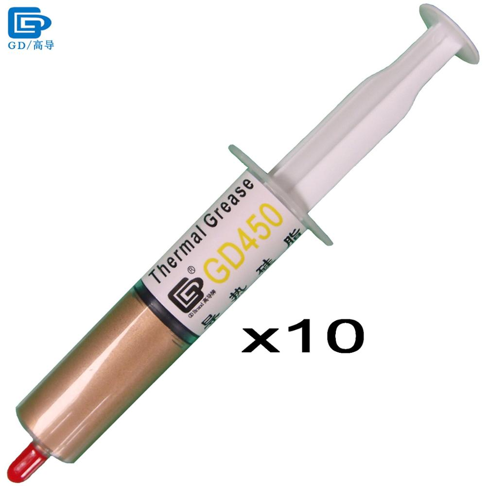 GD450 Thermal Conductive Grease Paste Silicone Plaster Heat Sink Compound 10 Pieces Net Weight 30 Grams Golden For LED CPU SY30