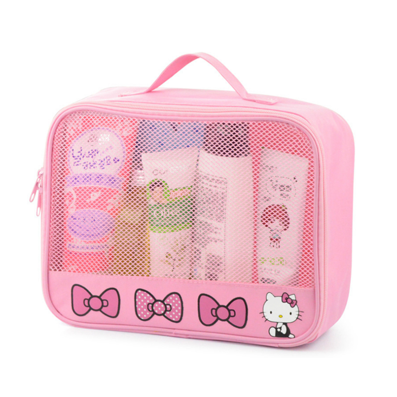 d55bc017ae2c Hello Kitty Women Cosmetic Bags Waterproof Toiletry Portable Travel Wash  Makeup Storage Pouch For Underwear Suitcase