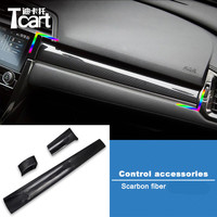 GuangDian Carbon Fiber Central Control Gear Trim Box ABS Shift Panel Cover Frame Sticker For Honda Civic 2016 2017 2018