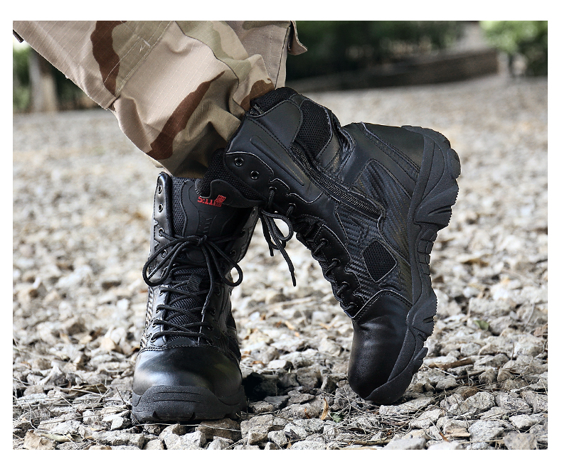 Brand Men\'s Boots Big Size Military boot Chukka Ankle Bot Tactical Army Male Shoes Safety Combat Mens Motocycle Boots (16)