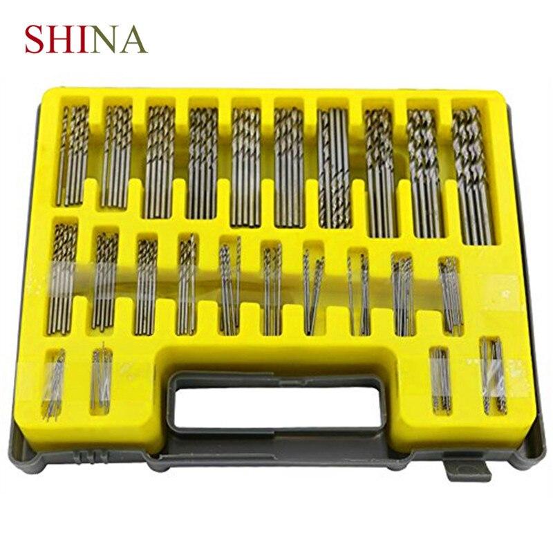 Shina 150PCS 0.4-3.2mm HSS Drill Bit Micro Hole Saw Kit Mini Twist Drill Blow Box Manual Tool Precision Hole Opener ayhf 60mm hole saw cast iron cutting hss twist drill bit