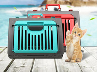 Pet Aviation Hand Basket Pet Travel Cage Kitten Dog Carrier Car Portable Collapsible Puppy Cat Cage