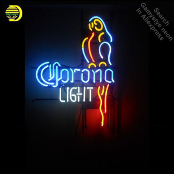Neon Signs for Corona Light Parrot Bay Neon bulb Sign Beer Bar Pub Store Display Lamps Handcraft Glass Tubes Art Dropshipping