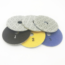 Diamond wet Polishing Pads 4 inch 3 STEP Set quartz Granite Stone Concrete girt at 1# 2# 3#  недорого