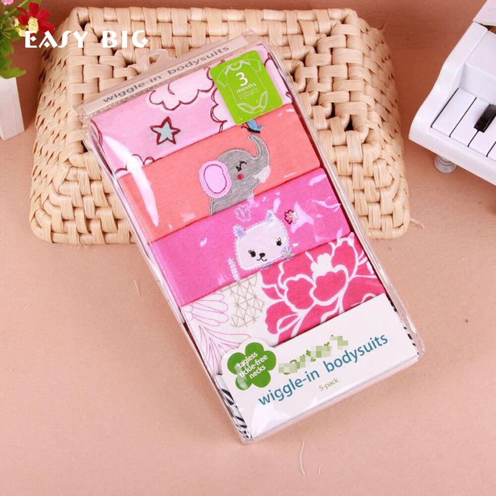 ŁATWY WIELKI Śliczny Piękny 5 Sztuk / paczek 100% Bawełna Body - Odzież dla niemowląt - Zdjęcie 1