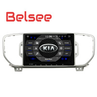 Belsee Android 8.0 Auto Head Unit Double 2 Din Car GPS Navigation System Radio Stereo Audio Unit for Kia Sportage 2016 2017 2018
