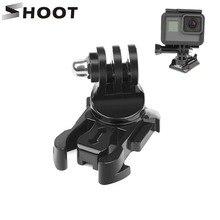 SHOOT Soporte de superficie Vertical para cámara GoPro Hero 8 7 5 4 Sjcam Sj4000 Xiaomi Yi 4K Eken, hebilla de liberación rápida giratoria de 360 grados