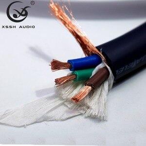 Image 5 - XSSH audio Hi End Hifi versterker OFC Puur Koperen Schuko Euro EU + IEC AC Vrouwelijke Mannelijke Vergulde power Plug Power Cable Cord Wire