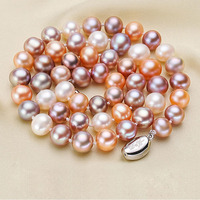 Eternal wedding Women Gift word necklace real 925 real natural big The Jasmine Pearl Necklace near round pearl bts