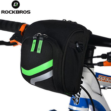 Giving Tuesday ROCKBROS Bicycle Handlebar Bag High-Capacity Cycling Tube Bag MTB Mountain Road Folding Bike Front Bags Riding Accessories K6505