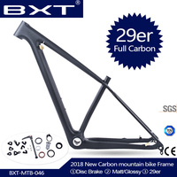 2019 Chinese carbon mtb frame 29er bicicletas mountain bike 29 bicycle parts carbon frame 142*12 or 135*9mm bicycle frame