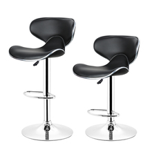JEOBEST 2PCS Adjustable Swivel Barstools Modern Adjustable PU Leather  Swivel Saddle Back Design Bar Stool Chair