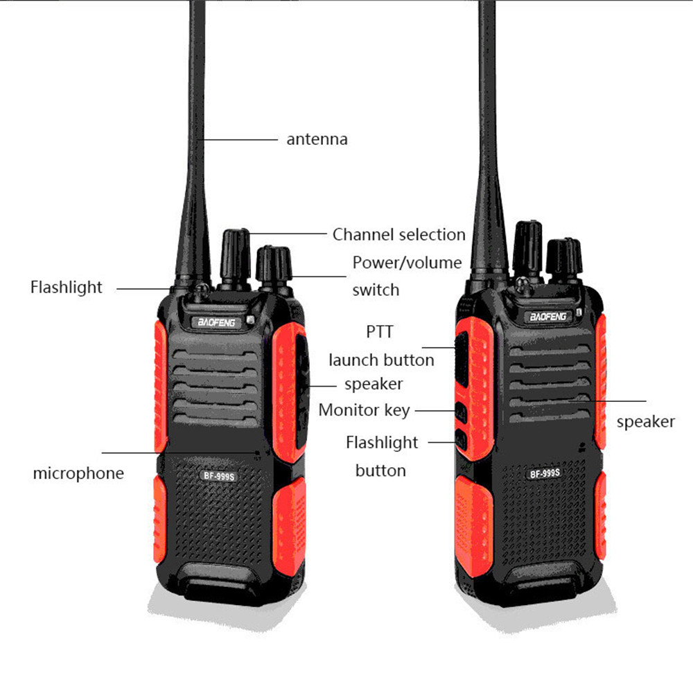 Image 4 - Baofeng BF 999S Walkie talkie 888s Upgrade Version Mini Wireless Civilian Portable Self driving Tour Security Walkie talkie-in Walkie Talkie from Cellphones & Telecommunications