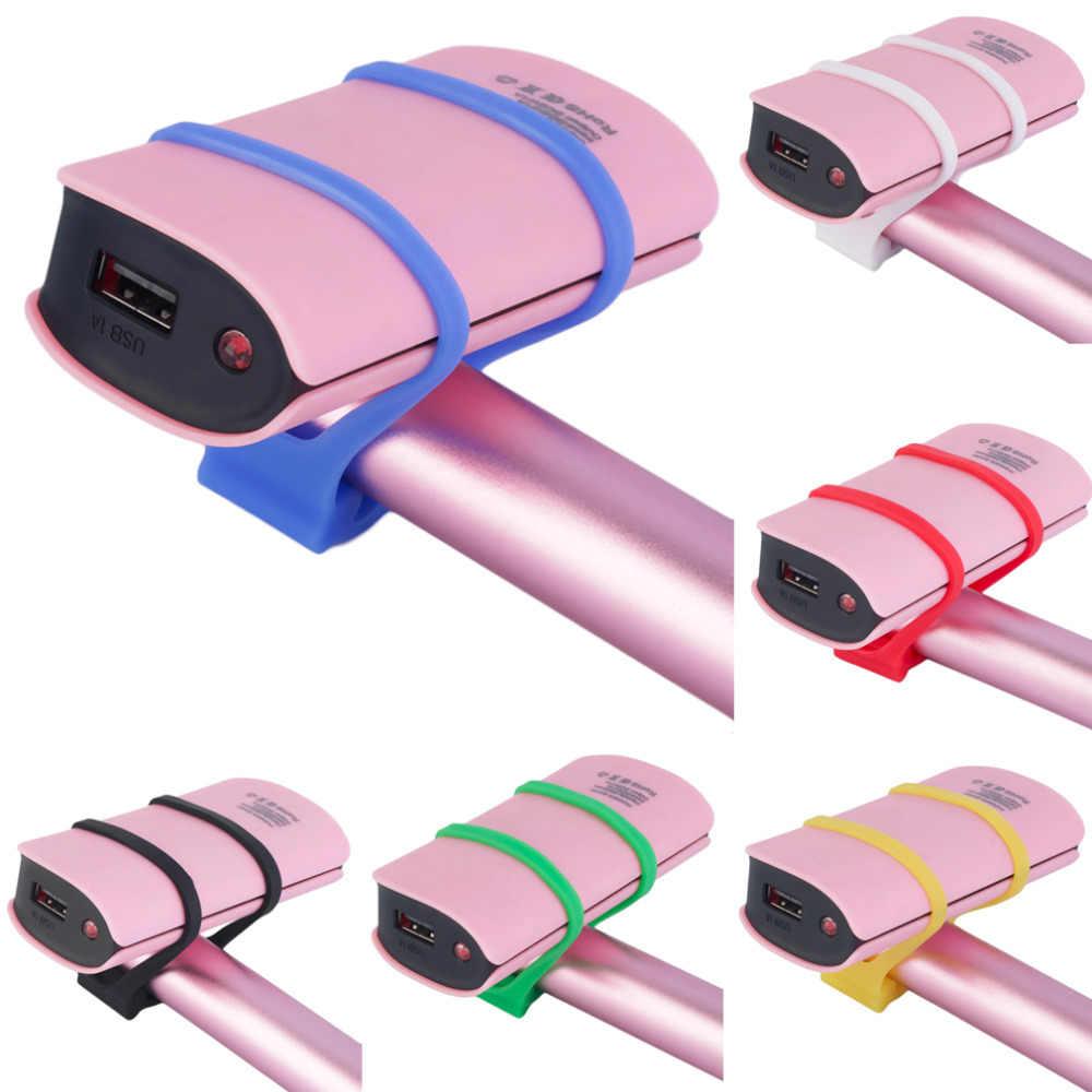 Rowerowa jazda na rowerze silikonowy elastyczny pasek bandaż światła uchwyt do mocowania lampy uniwersalna rowerowa świecznik