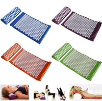Cloth Bag Packing Acupuncture Massage Cushion Pillow Yoga Spike Acupressure Mat Foot Pain Relief Massager