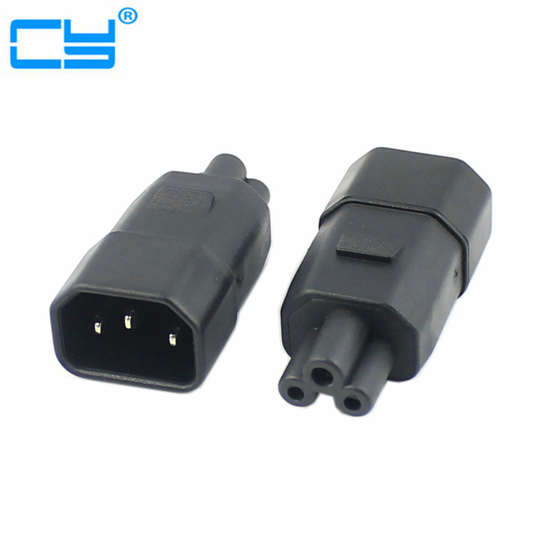 Free Shipping IEC 3Pin C6 male to 3Pin C13 Female Micky Mini Power Adapter Convertor Adaptor 220V 240V iec 3pin female to 2pin male iec 320 c5 to c8 power adapter iec 320 c5 micky male to c8 2 pin female power adapter wpt604
