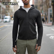 TACVASEN 2016 Men Tactical Wool Hoody Sweatshirt  Military Army Body Slim Warm Woollen Fleece Wool Hoodies Knitted