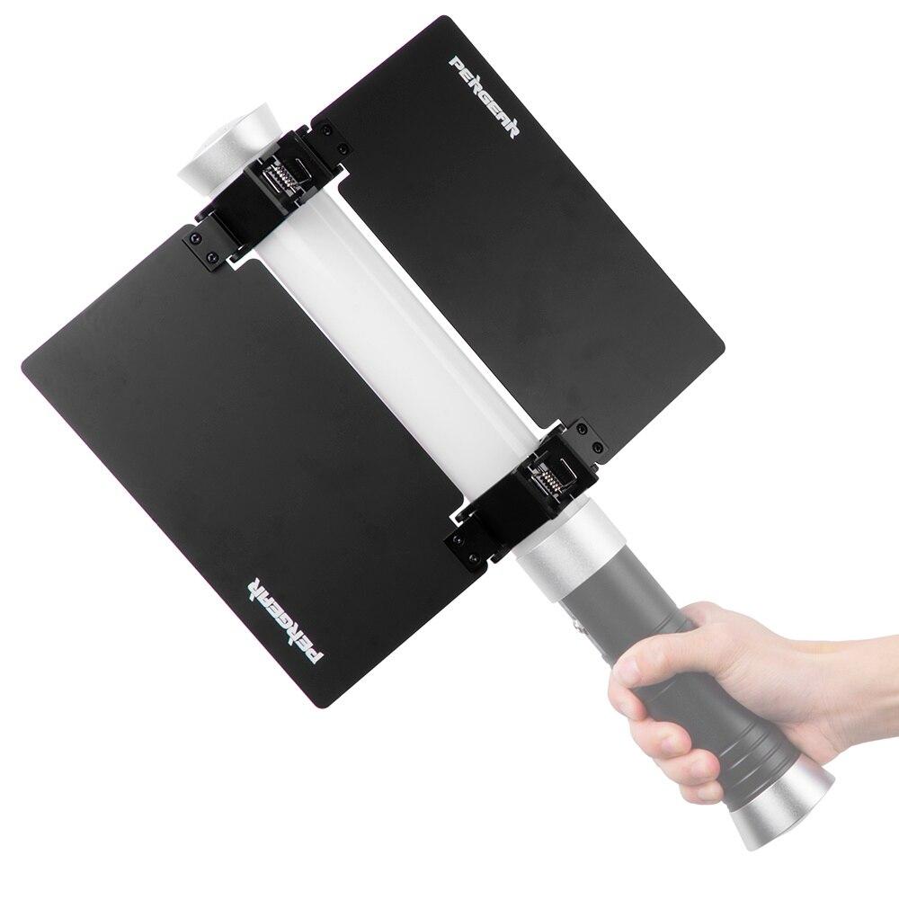 Pergear Video Camera Tube Light Sunshade Barn Door for ICE LED Tube Light For 22cm/ 8.7 Long P0026113