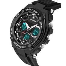 Los hombres de Lujo de Cuarzo Analógico Digital Reloj de Los Hombres A Prueba de agua Reloj Militar Deportes Relojes 2016 Nueva Moda S289-2