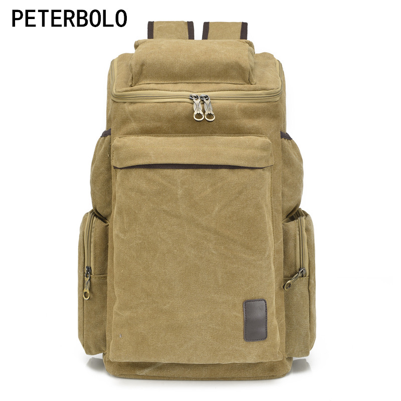 Peterbolo Factory direct casual Canvas men Backpack larger capacity travel bag school backpack casual canvas satchel men sling bag