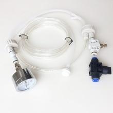 1Set White DIY Aquarium Planted Tank CO2 System Pro Tube Valve Guage Bottle Cap Kit Gauge Generator