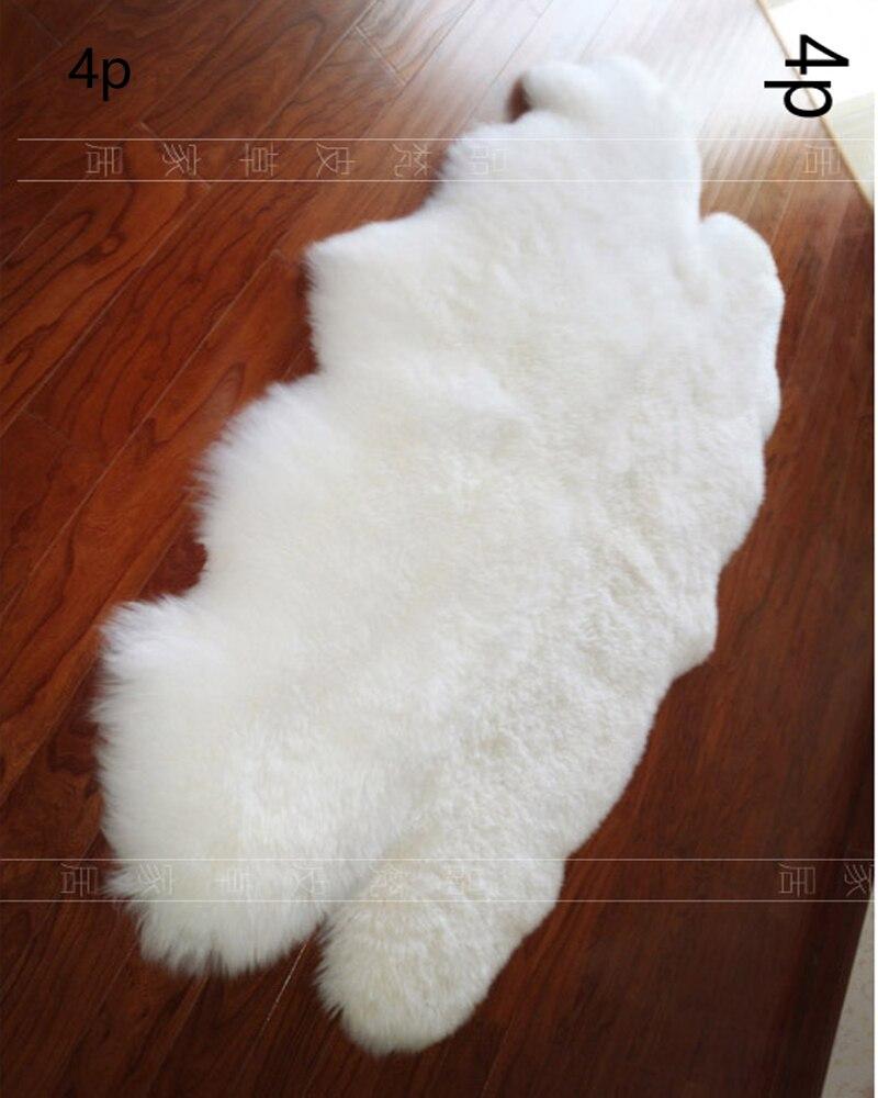 Double Real White Genuine Merino Sheep Skin Fur Sofa Chair Cushion Pelt 100 Sheepskin Rug Natural Carpet Long Hair Rugs In From Home Garden On
