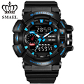 3ATM Men Watches Sport Big Dial S Shock Military Watch PU Digital-Watch LED Men's Wristwatch relojes hombre relogio Gifts WS1436