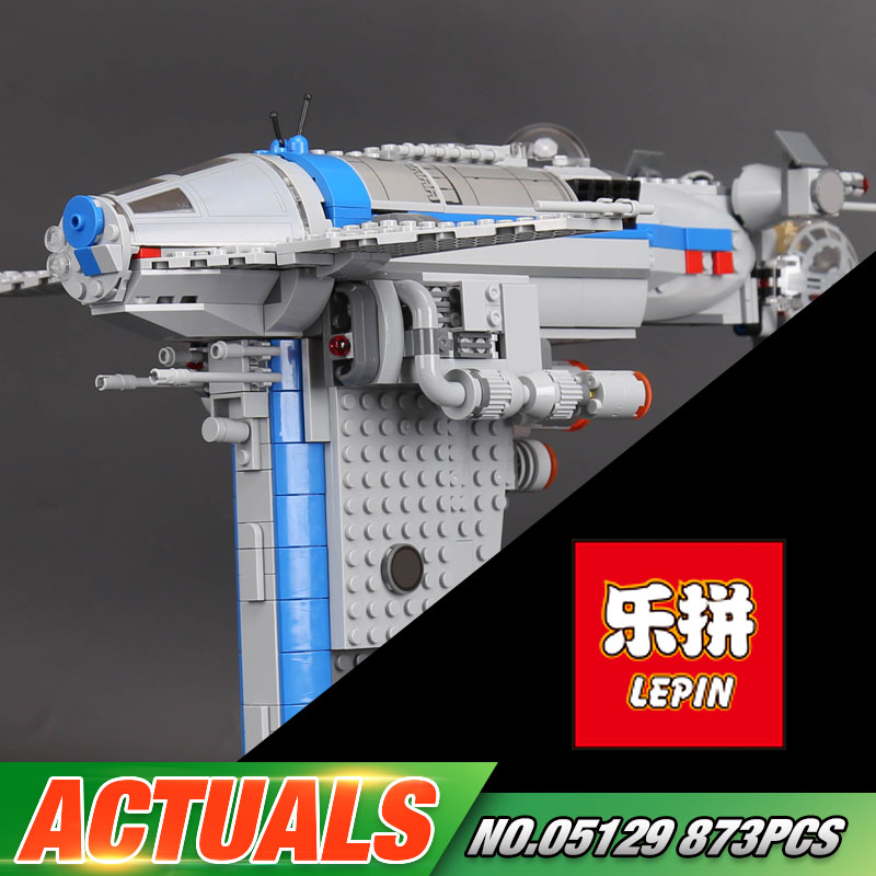 Lepin 05129 New 873Pcs Star Plan Series The75188 Resistance Bomber Set Building Blocks Bricks Funny Kids Toys As Birthday Gifts конструктор lepin star plan бомбардировщик сопротивления 873 дет 05129