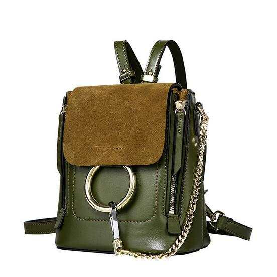 0b9e32821c Online Shop Genuine Leather Small Backpack for Women Fashion Design Ladies  Bag Multi Function Metal Circle Female Shoulder Bag Real Cowhide