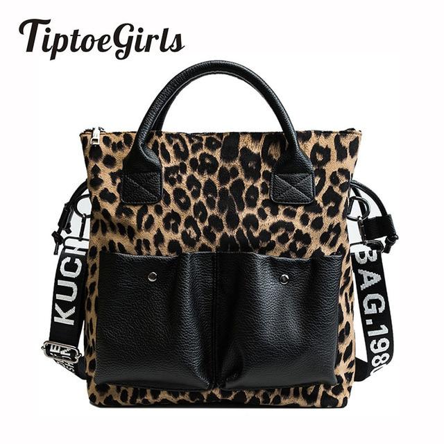 Fashion Leopard Ladies HandBags 2018 Winter New Women Bags Fashion Girls Totes High Quality Female Shoulder Messenger Bags
