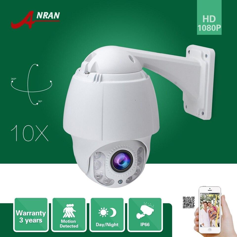 ANRAN Onvif HD Pan Tilt Zoom 1080P 2.0MP PTZ 10X Zoom Array IR Outdoor IP66 Waterproof Outdoor Home Security CCTV IP Camera onvif hd 1 3 sony sensor 1080p ptz 10xzoom array ir ip66 waterproof dome outdoor home security cctv ip camera 5mm 50mm lens