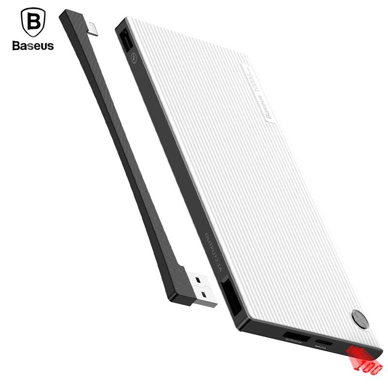 BASEUS 10000 мАч Мобильные аккумуляторы ЖК-дисплей Батарея Зарядное устройство для iPhone iPad Samsung Xiaomi Dual USB Мощность банк мобильный телефон внешний Б...