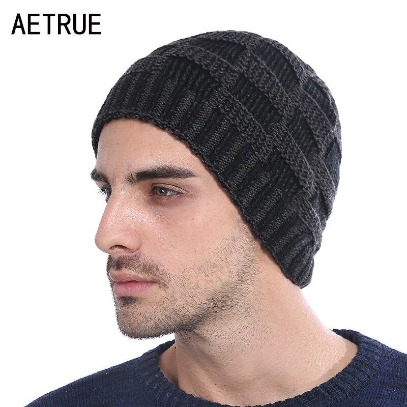Зимняя вязаная шапка шапочки мужские зимние шапки для ...
