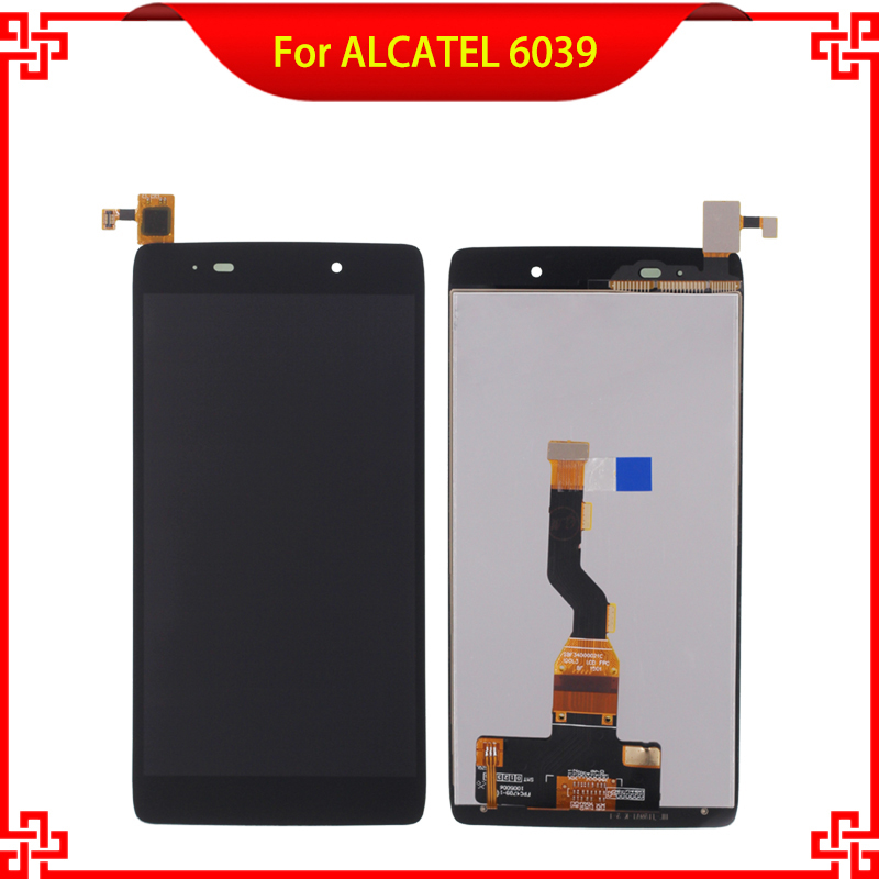 For ALCATEL 6039 6039A 6039K 6039Y LCD Display Touch Screen Digitizer Assembly Black High Quality Mobile Phone LCDs