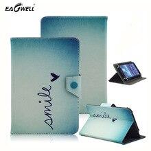 Universal magnético cubierta de libro de cuero de la pu case para 9.7 10 10.1 pulgadas tablet pc bolsas billetera manga impresión del soporte del tirón para el lenovo Tab