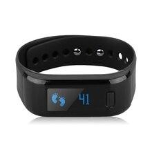 Топ предложения Bluetooth здоровья браслет спортивный трекер сна Мониторы Смарт часы черный