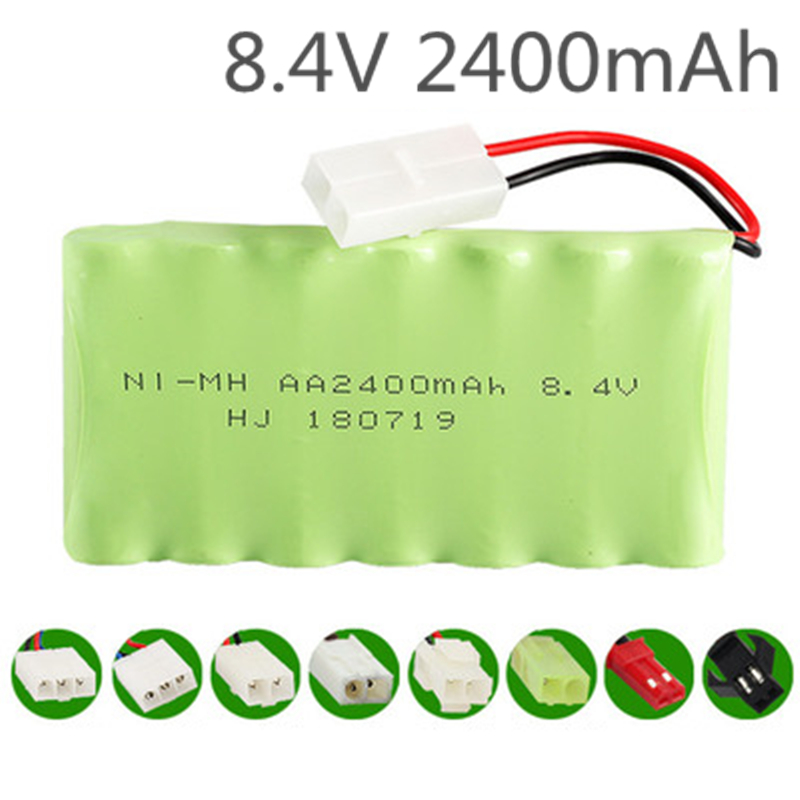 1 Pcs 8.4V 2400mah Ni-mh Battery Pack AA Rechargeable Remote Control Electric Toy Car Model For Vehicles Security Facilities