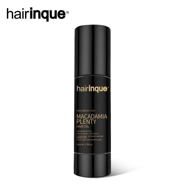 Hairinque hot selling 50ml Macadamia nut oil moisturizing nourishing hair make hair smooth for all types of hair best hair oil