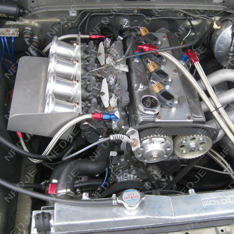 AE86 voor Corolla GTS Velocity Stack 20 V 4AG ITB/ITBs Luchthoorn Trechter Zilver EK #
