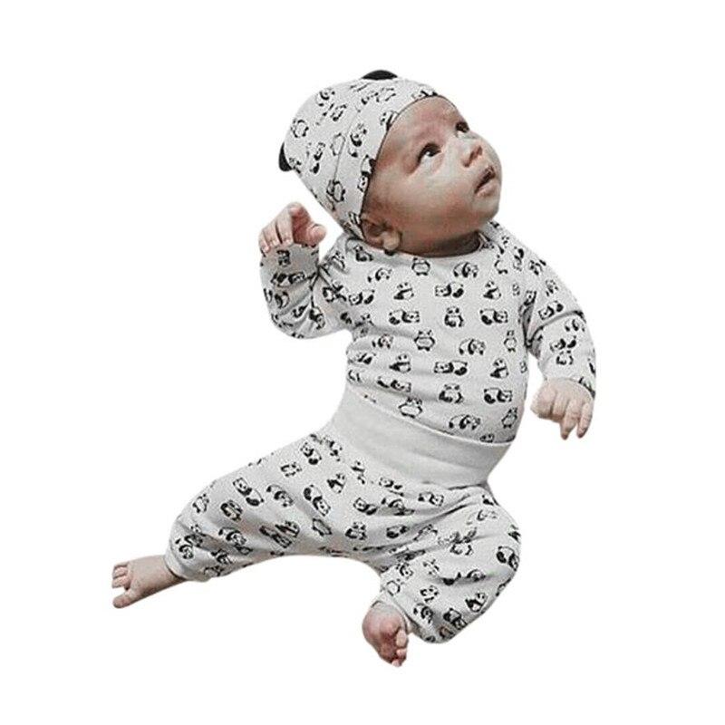 3Pcs Toddler Baby Neweborn Boys Girl Cartoon Panda Tops Pants Outfit Set Clothes baby girl clothes winter conjunto menino 20