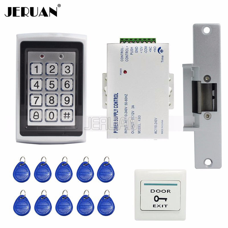 free shipping new diy rfid keypad metal rfid door entry access control kit electric door strike lock power wholesale