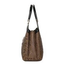 DIZHIGE Women Handbag Leather Bag Ladies Top Handle Bag Female Tote Bag Women Luxury Brand Designer Serpentine Pattern Woman Bag