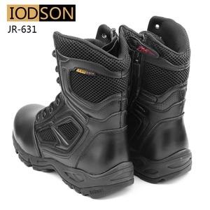 Image 5 - Yodson botas militares tácticas de combate para hombre, zapatos de combate de fuerzas especiales para exteriores, botas de trabajo de seguridad impermeables de cuero, talla 3