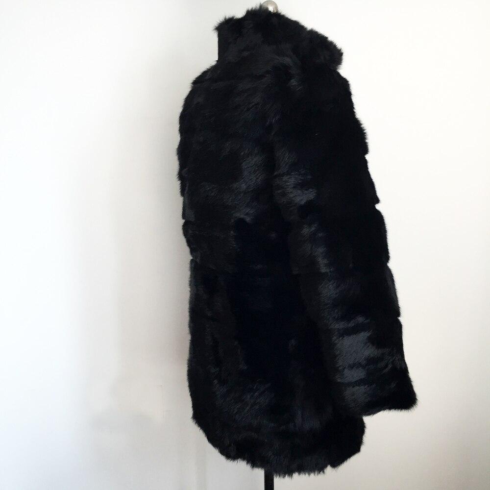 Veste Naturel Pelt Personnaliser Peau Black Réel Outwear Plus 100 Complet Wsr60 L'ensemble La Lapin Fourrure Pur Manteau Taille Femmes De xpnSOY8q