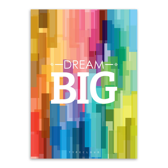 Colorful Backgroud Big Motivational Typography Quotes Art Print Poster Abstract Wall Picture Canvas Painting No Frame Home Decor