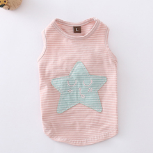 Dog Puppy Vest Star Pattern 100% Cotton