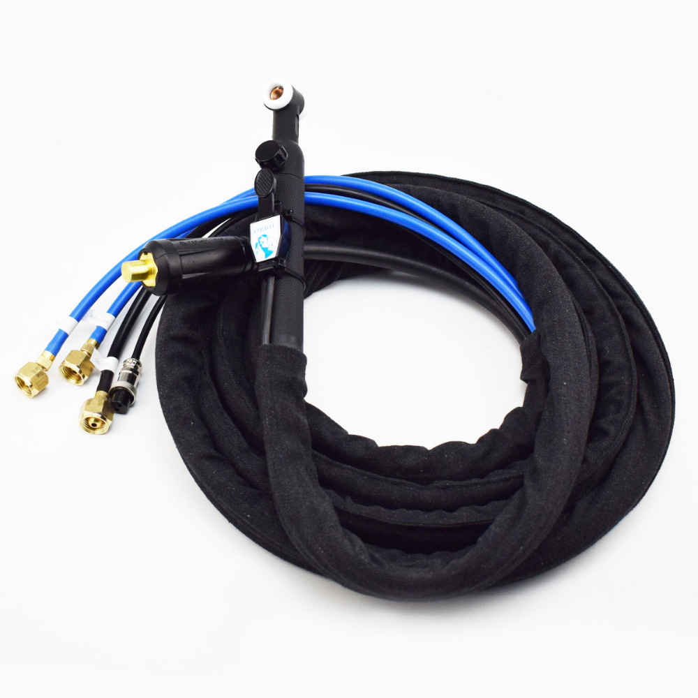 Gas Valve Control WP 18V TIG Welding Torch 4M Seperated Type 35 50 Cable Connector Gas