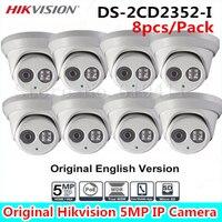 8 Sztuk 5MP Kamera IP kopułkowa IP66 WDR Kamera Sieciowa EXIR Turret DS-2CD2352-I Ochrona Odporna na Warunki Atmosferyczne Na Zewnątrz Aparatu Bezpieczeństwa 30 m IR
